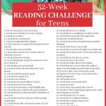 52 Week Printable Reading Challenge for Teens