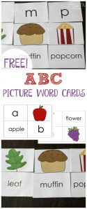 ABC Picture Word Cards