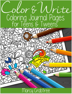 Color and Write Journal Pages for Tweens and Teens