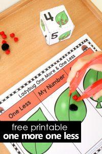 Number Sense Ladybug Printable