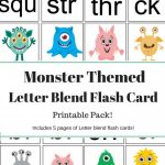 Monster Letter Blend Flash Cards