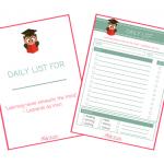 Homeschool Daily List