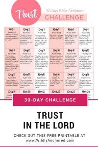 Trust Challenge Printable