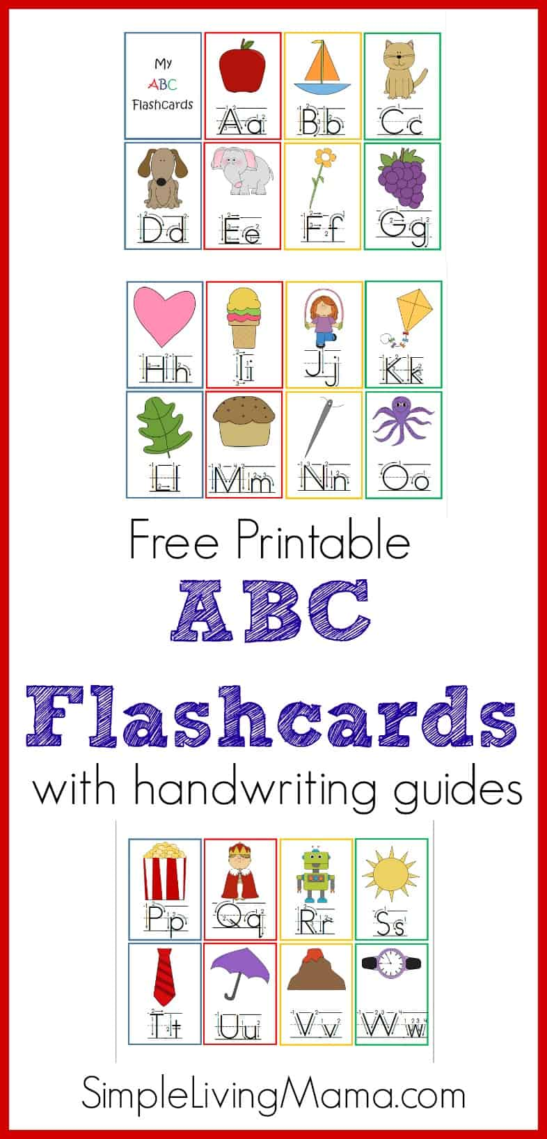 photograph regarding Printable Abc Flash Cards titled Printable ABC Flashcards - Homeschool Printables for Cost-free