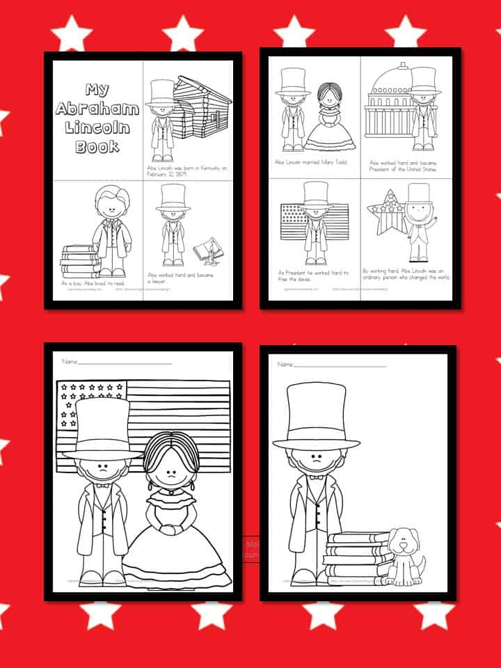Abraham Lincoln Coloring Pages Homeschool Printables For