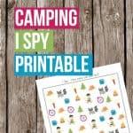 I Spy Camping Printable