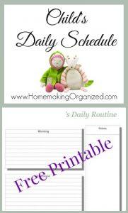 Children's Daily Schedule