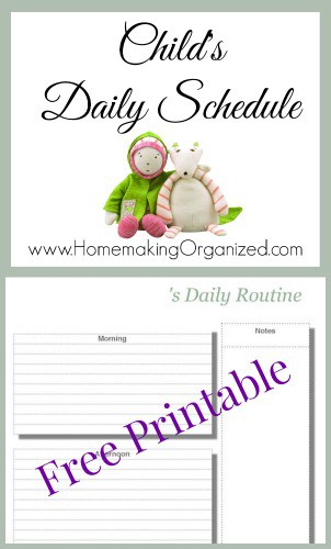 Do you use schedules for your children?  Check out this printable child's daily schedule. #homeschool #printable