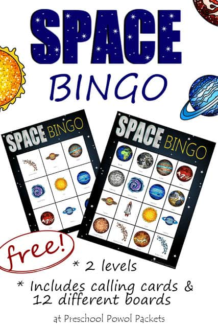 Space Bingo Homeschool Printables For Free
