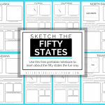 Sketch the Fifty States Printable