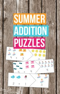 Summer Addition Puzzles