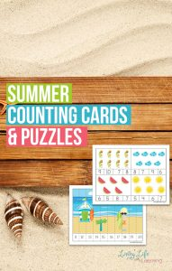 Summer Counting Cards and Puzzles