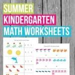 Summer Kindergarten Math Worksheets