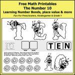 Number Bonds to 10 Math Worksheets