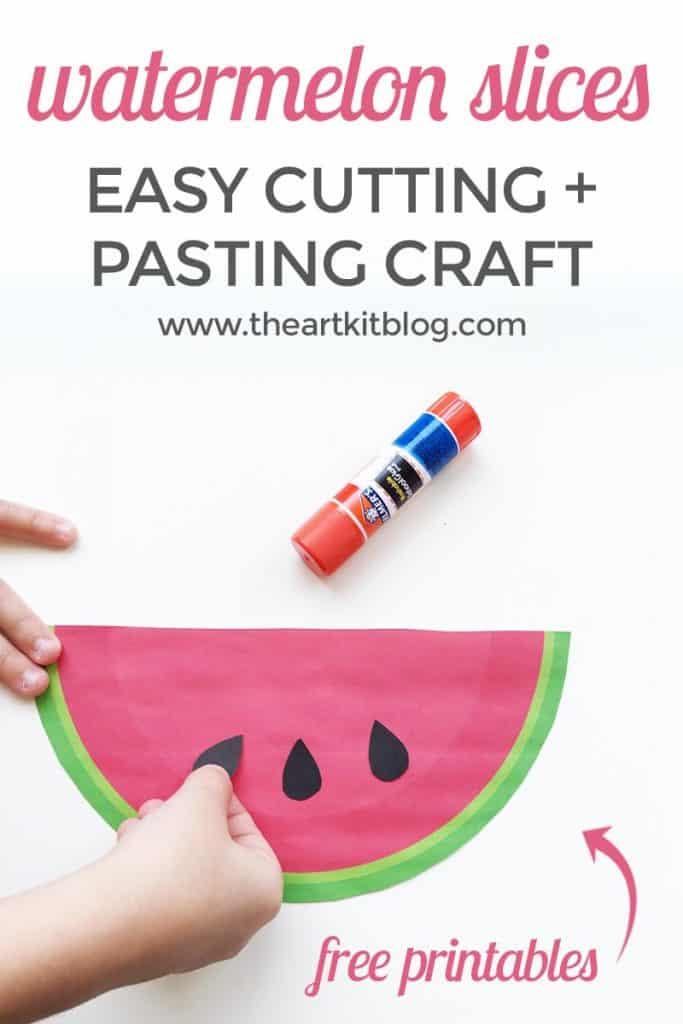 Easy Watermelon Craft Printable Homeschool Printables