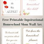 Inspirational Wall Art for Homeschool Moms