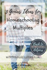 Homeschooling Multiples Printable Pack