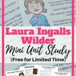 Printable Laura Ingalls Wilder Mini Unit Study