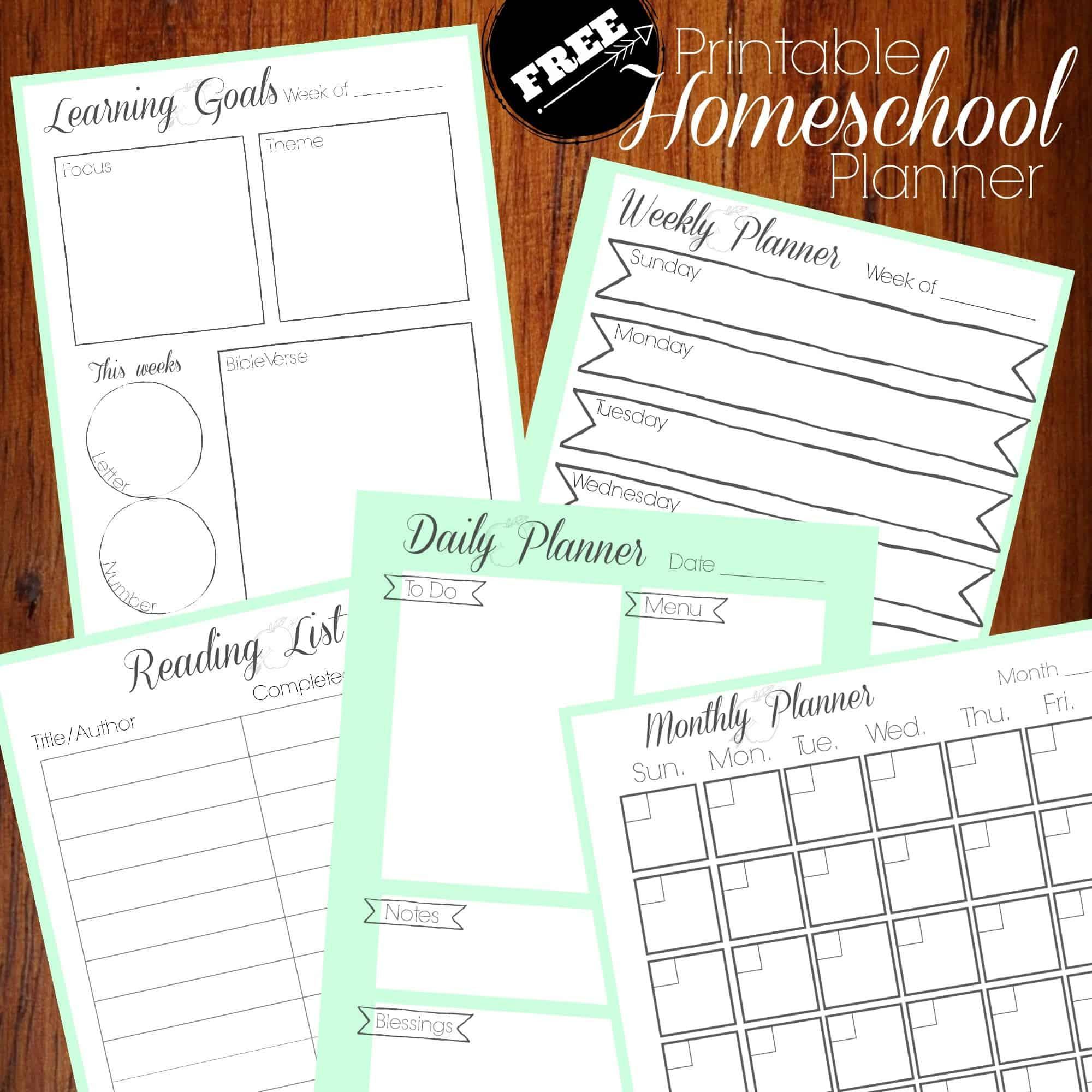 photo regarding Free Homeschool Planner Printable known as Absolutely free Homeschool Planner - Homeschool Printables for Absolutely free