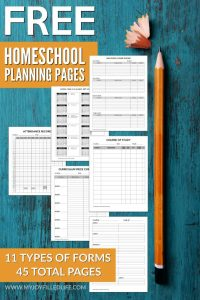 Printable Homeschool Planning Pages