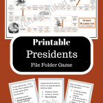 Printable Presidents File Folder Game