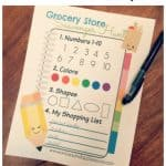 Grocery Store Scavenger Hunt Printable