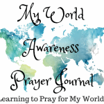 Printable World Awareness Prayer Journal