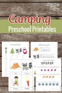 Camping Preschool Printable