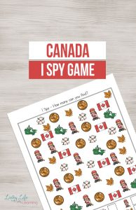 Canada I Spy Printable