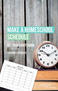 Make a Homeschool Schedule Printable