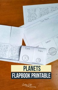 Printable Planet Flip Book