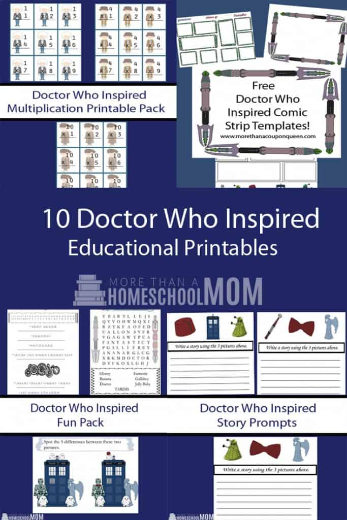 picture relating to Doctor Who Printable called Medical professional Who Printable Pack - Homeschool Printables for Absolutely free