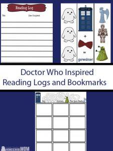Doctor Who Themed Comic Strip Printables