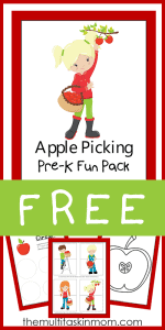Printable Apple Picking Fun Preschool Pack