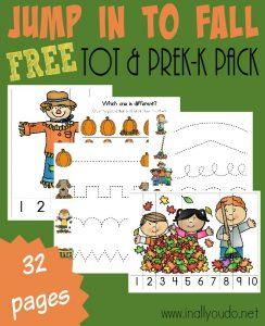 Preschool & Toddler Fall Printable Pack