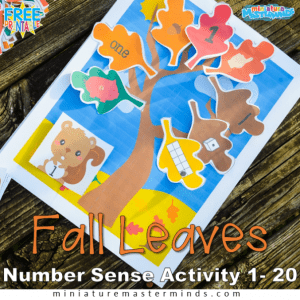 Printable Fall Number Game