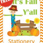 Printable Fall Stationary