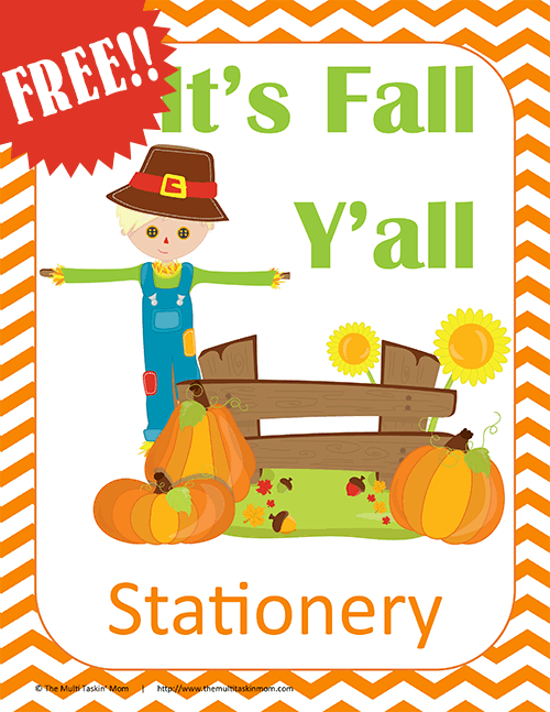 Are you looking for some super cute stationery designed just for Fall?  Look no further!  #fall #printable