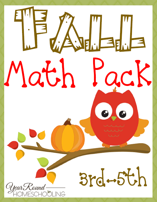 Fall Math Pack  Upper Elementary  Homeschool Printables For Free Do You Need A Math Printable Pack For Upper Level Elementary Kids Check  Out This