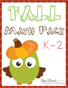 Fall Math Printables