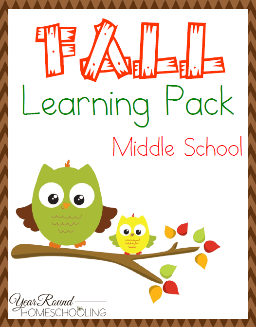 A fun fall printable pack designed just for the middle school crowd! #fall #middleschool #homeschool #homeschoolprintablesforfree
