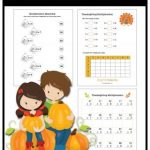 Printable Thanksgiving Multiplication Pack