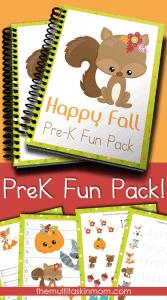 Preschool Fall Fun Pack