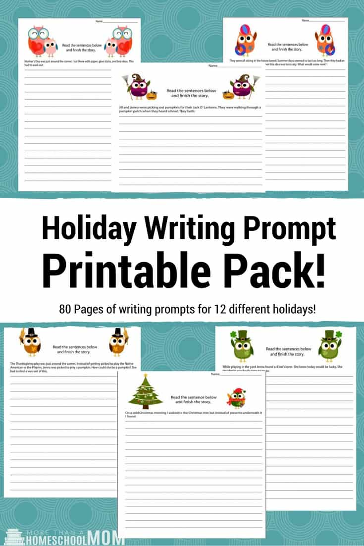 picture relating to Printable Writing Prompt identify Holiday vacation Crafting Proposed Printables - Homeschool Printables
