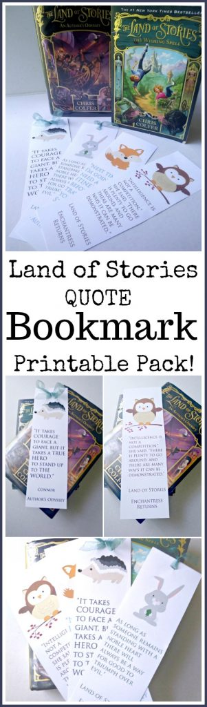 Are you reading the Land of Stories series?  Check out these printable bookmarks today!  #reading #bookmarks #homeschool #printables