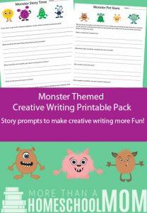 Printable Monster Themed Writing Pack