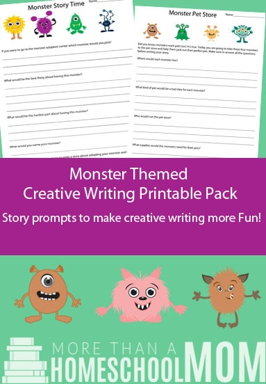 Are you looking for a Monster themed creative writing printable?  Then check this free printable out now! #creative writing #printable