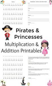 Princess & Pirates Math Printables