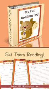 Printable Fall Reading Logs