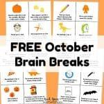 October Brain Breaks